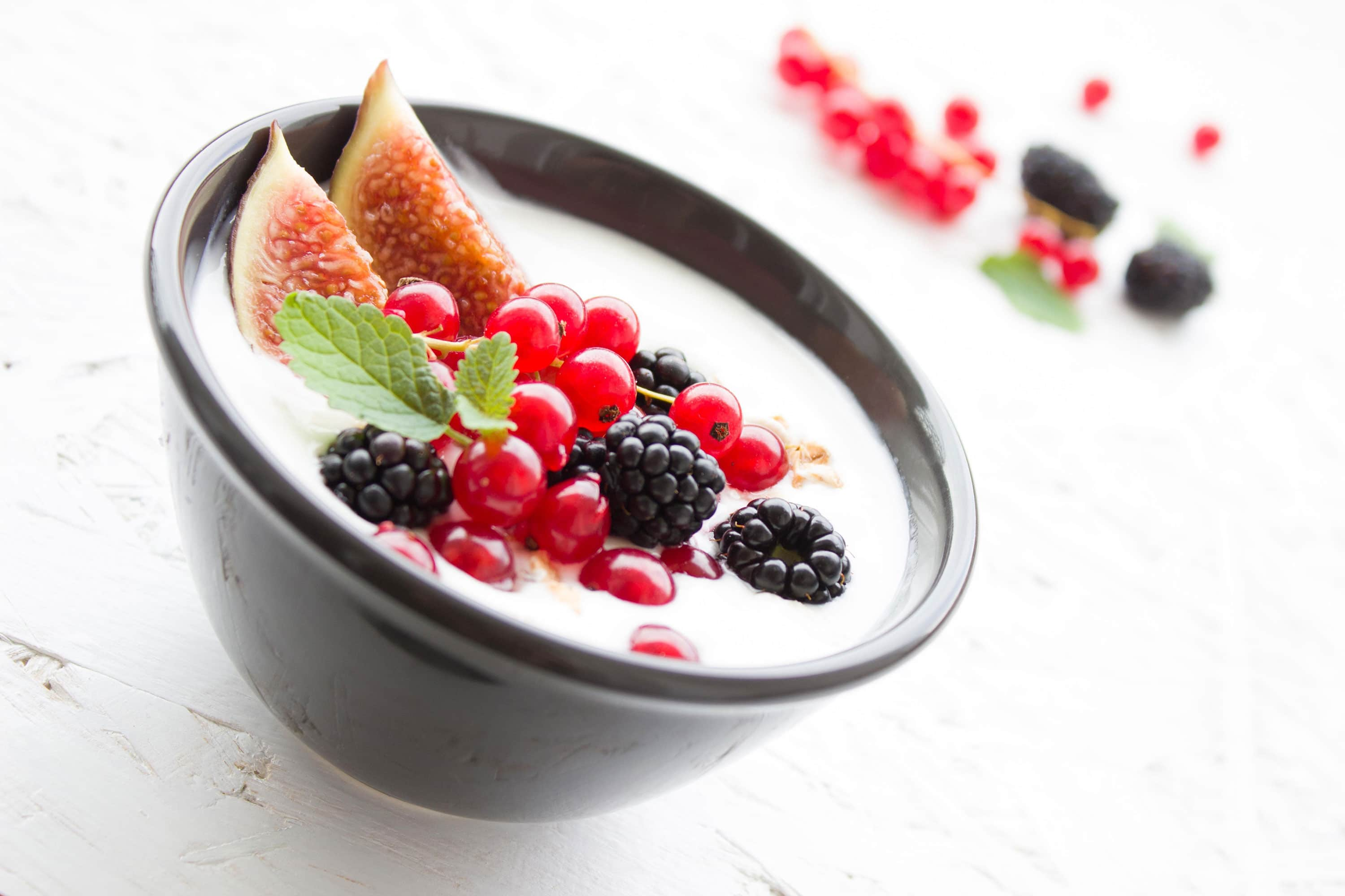 flavours yoghurt with fruits